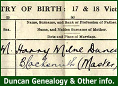 Click Here - Duncan Genealogy and Other Info