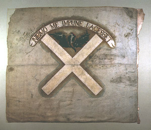 Jacobite Flag, Angus Regiment, Lord Ogilvy 1746
