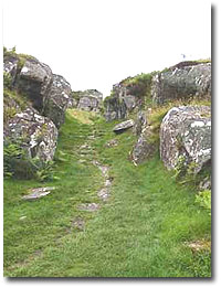Entrance to Dunadd Fort click for Larger image