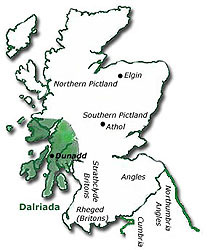 Map of Dalriada