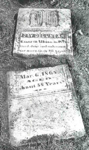 Tombstone of David Duncan - Click for Larger Image