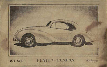 Part of the Healey - Duncan Sales Brochure
