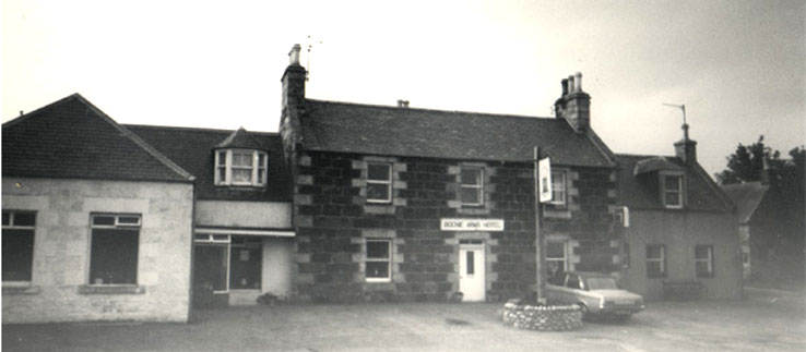 The Bognie Arms Hotel, Forgue by Huntly, Aberdeenshire 1979